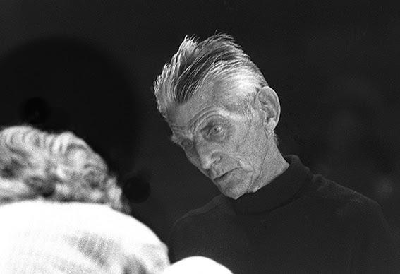 Samuel Beckett in rehearsal. Photograph: John Haynes