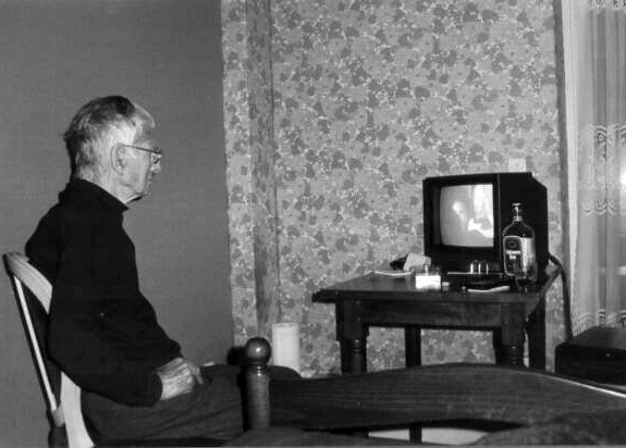Samuel Becket, December 1988, in his nursing home in Paris. Photograph: Barney Rosset. One of the last, if not the last, set of images taken of Beckett before his death in 1989.
