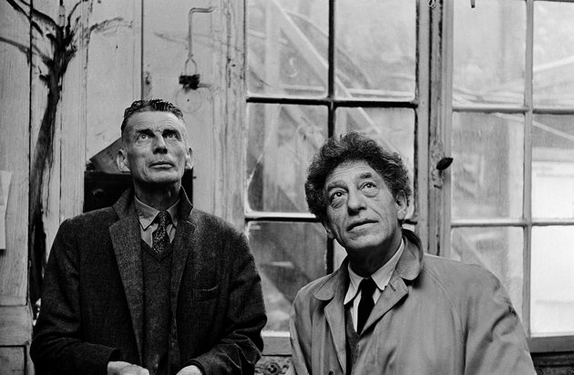 Samuel Beckett with Alberto Giacometti