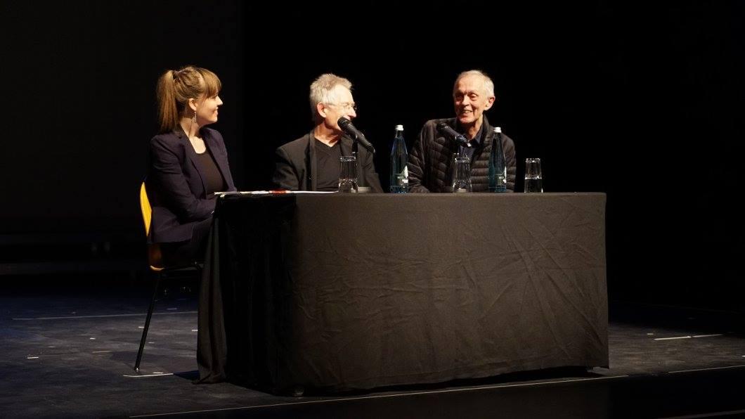 Beckett Festival Freiburg: Walter D. Asmus in conversation with Marek Kedzierski and Fabienne Trüssel © Sinan Hancili